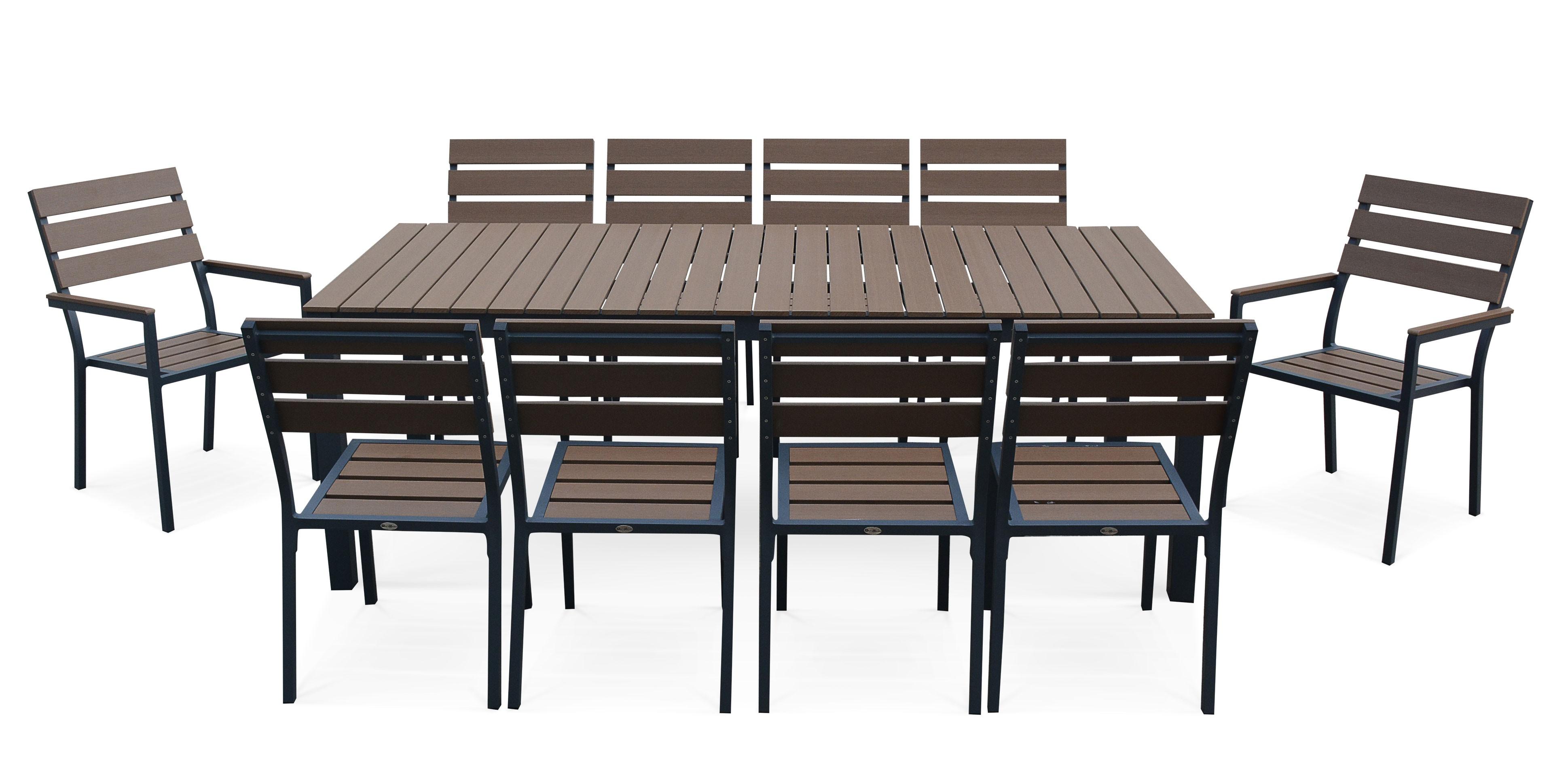 Beau Table Jardin 10 Personnes Et Salon De Jardin Polywood dedans Table De Jardin 10 Personnes