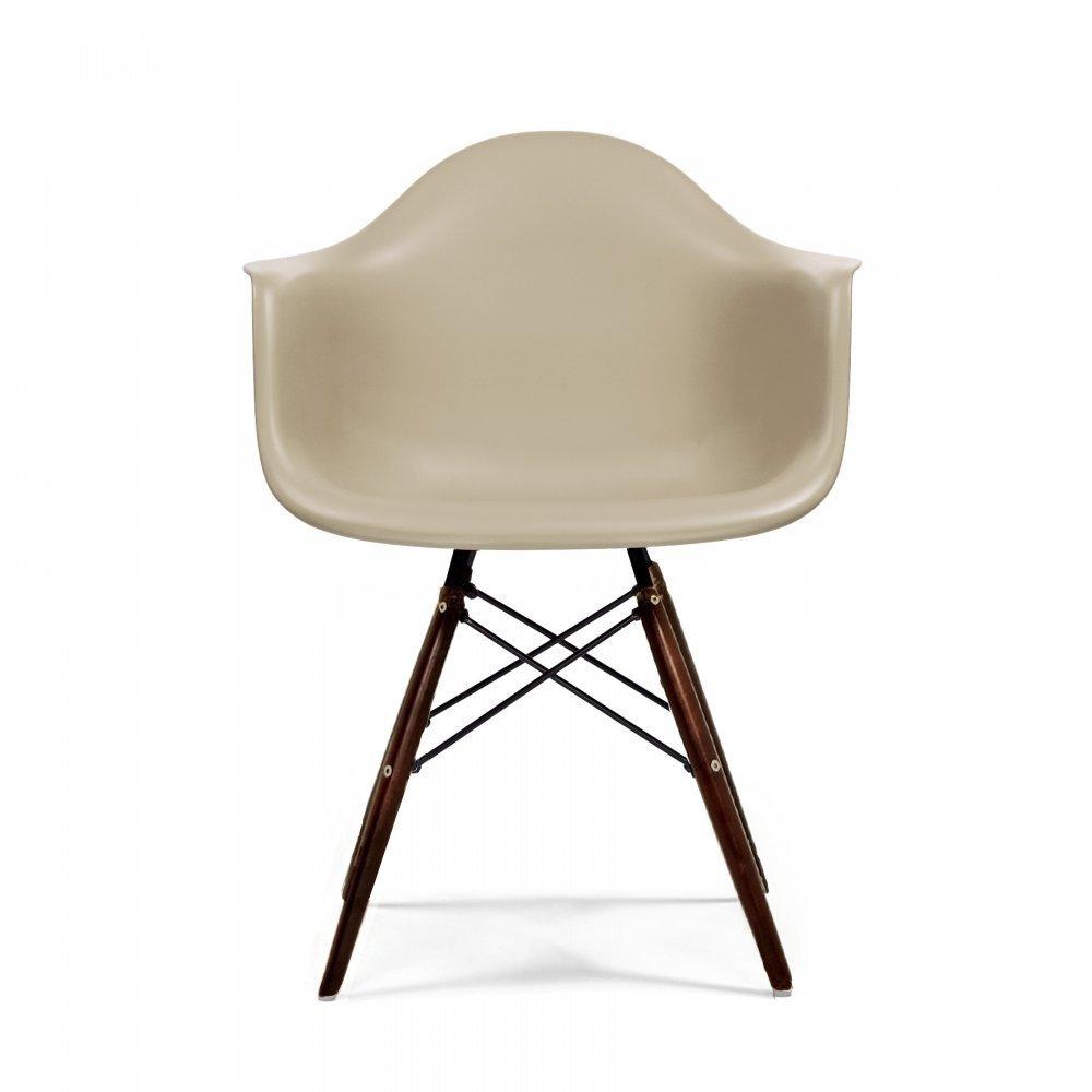 Beige Daw Style Chair (Walnut Stained Legs) | Cult Uk destiné Chaises Eames Copie