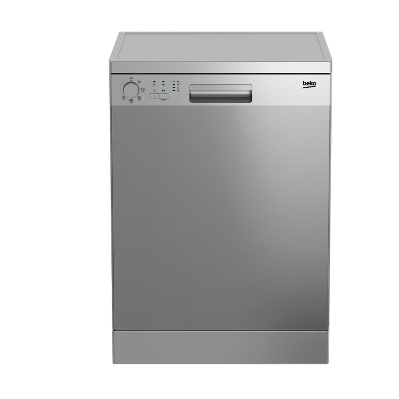 Beko Dishwasher Free Standing Dfn05314X 5 Prgm Inox tout Sbitany Home
