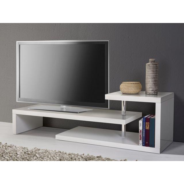 Beliani Meuble Tv - Meuble De Rangement - Blanc - Concord concernant Meuble Tv Sono