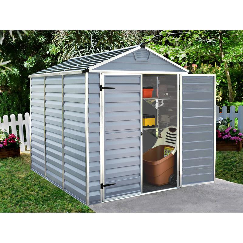 Bien Choisir Un Abri De Jardin En Pvc / Résine Pas Cher concernant Abri De Jardin Polycarbonate Skylight - 4.25 M2 - Gris