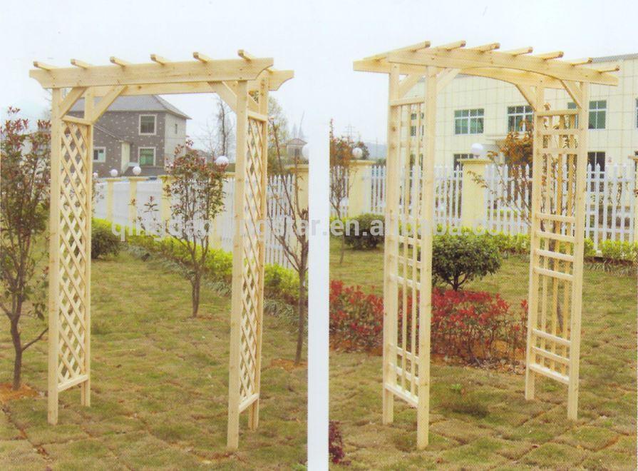 Bois Massif Extérieure Jardin Arche Porte-Autres Meubles serapportantà Arche De Jardin En Bois