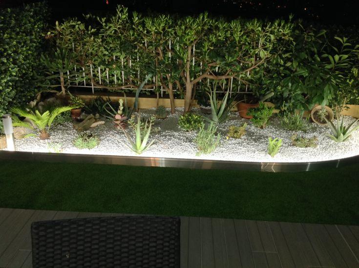 Bordure Avec Éclairage Intégré Led Apanages Jardin tout Delimitation Jardin