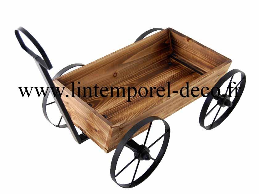 Brouette Décorative Pour Jardinière — Lintemporel-Deco.fr® pour Brouette Deco Jardin