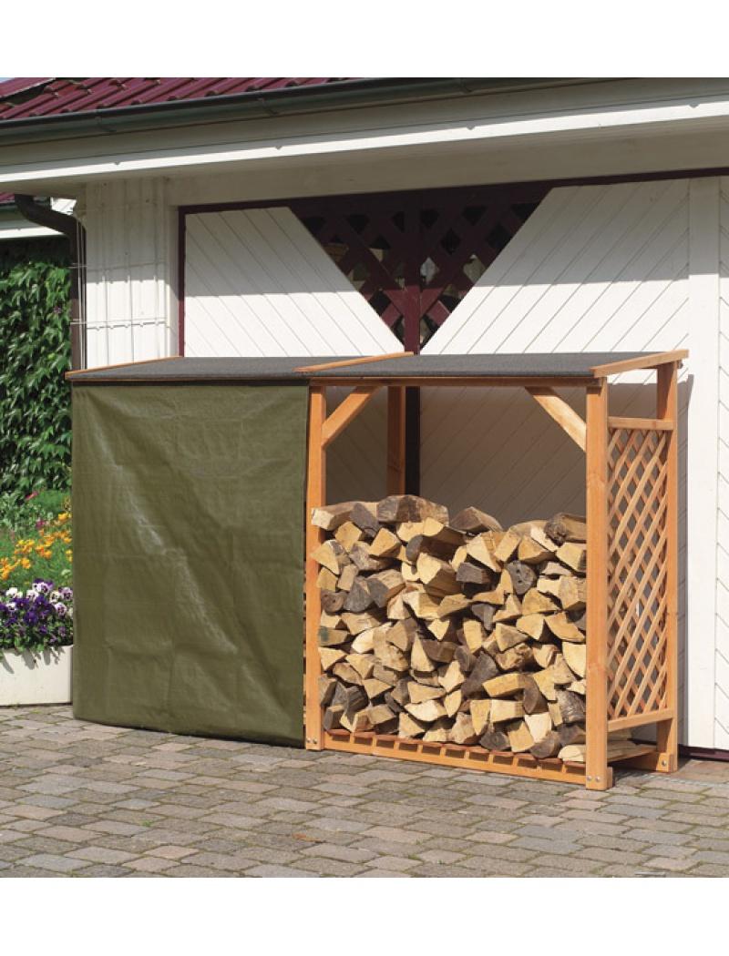 Bûcher En Treillis De Bois Avec Extension Ideanature à Abri De Jardin Avec Bucher