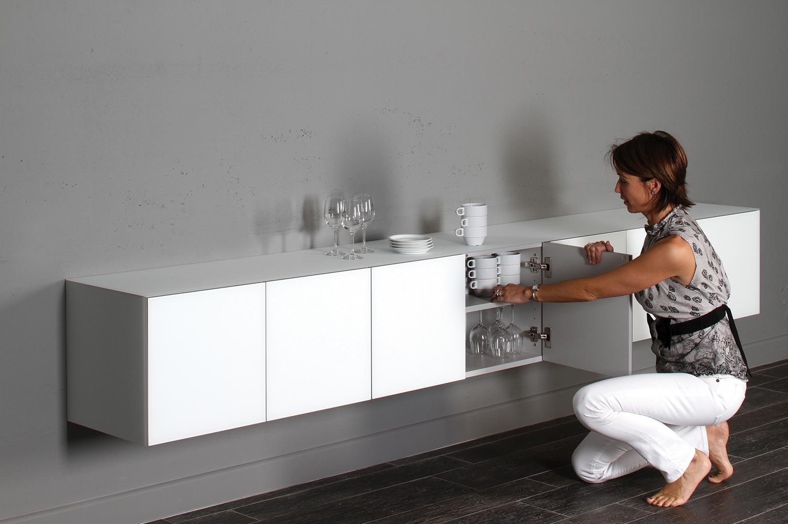 Buffet Design Cube 40 Joli En Verre Matilux Et Bois. à Meuble De Salle A Manger Ikea