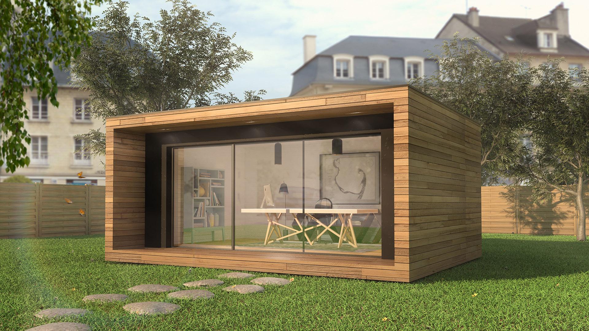 Bureau De Jardin - Bois - Atj Graphics encequiconcerne Abri De Jardin Habitable Design