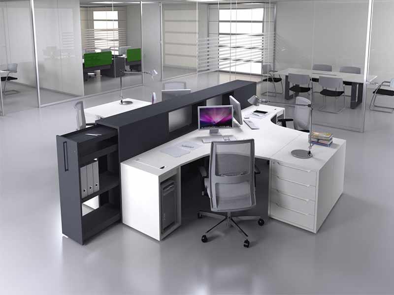 Bureaux Openspace | I Bureau avec Meuble De Bureau