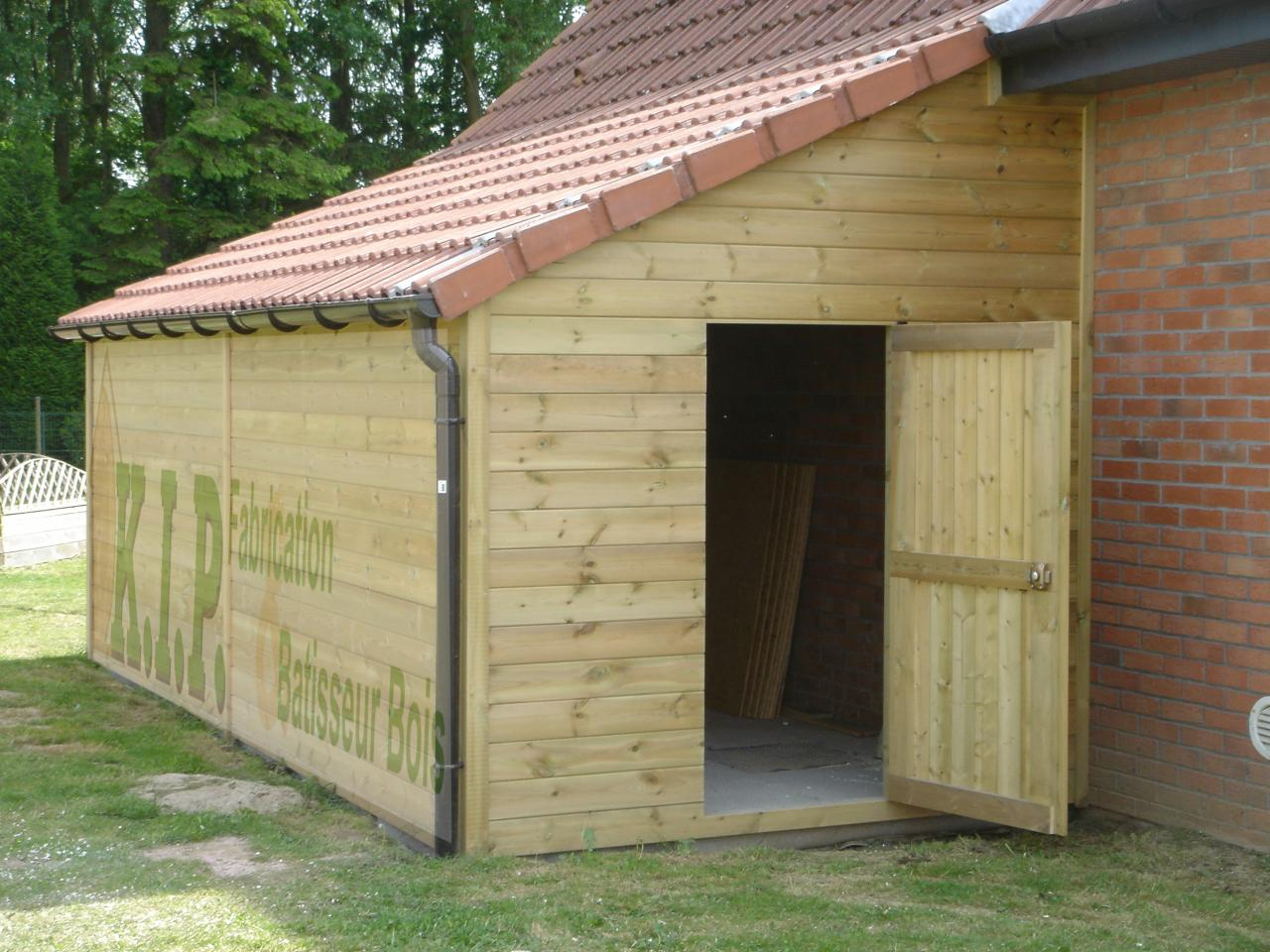 Cabane En Bois Garage - Mailleraye.fr Jardin dedans Abris De Jardin Adossable