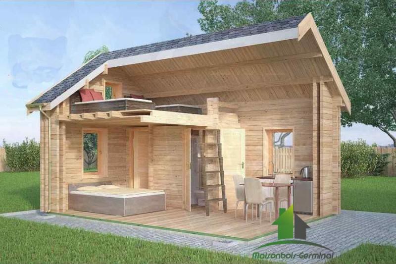 Cabane Habitable - Mailleraye.fr Jardin dedans Abri De Jardin Thonon 20M2