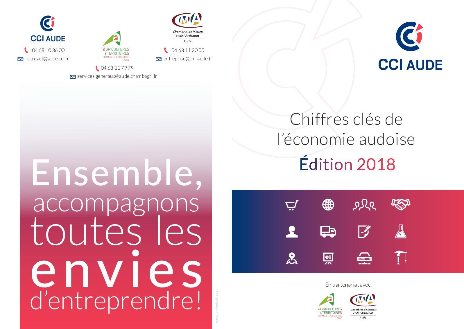 Calaméo - Chiffres Clés De L'économie Audoise Édition 2018 tout Chambre Des Metiers Carcassonne