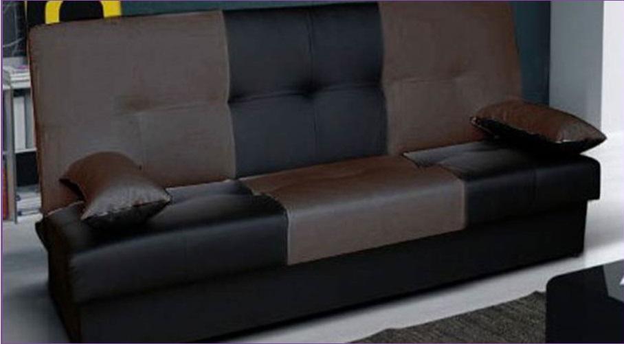 Canapé Convertible Check | Nkl Meuble Wassa Et Deco encequiconcerne Canape Convertible Maron Vieilli