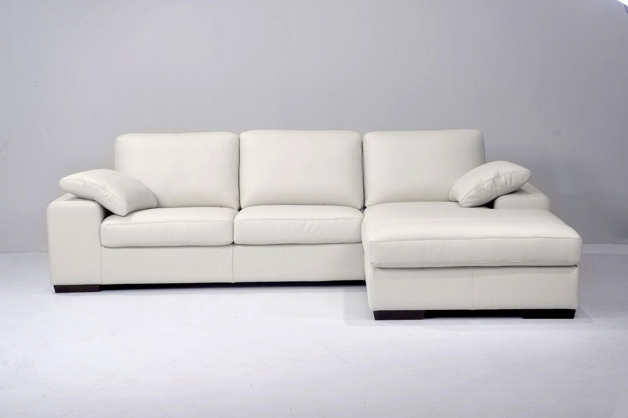 Canapé D'Angle Convertible Avec Chaise Longue En Cuir destiné Seanroyale Soldes
