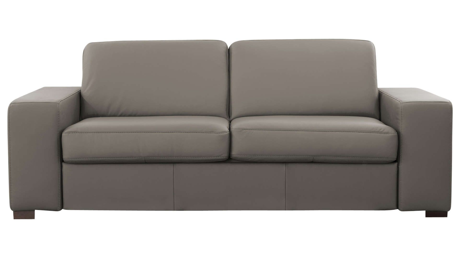 Canapé Droit Convertible 3 Places En Cuir Comfort Bultex à Canape Divalit