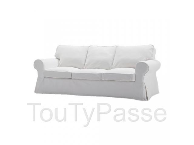 Canapée Ikea 3 Place Convertible En Lit De Couleur Maron destiné Canape Convertible Maron Vieilli