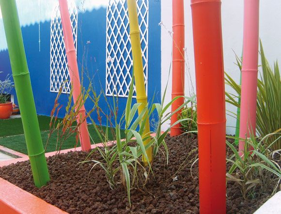 Cannes Bambous Colorées | Jardin | Pinterest | Déco Jardin à Déco Jardin Bambou