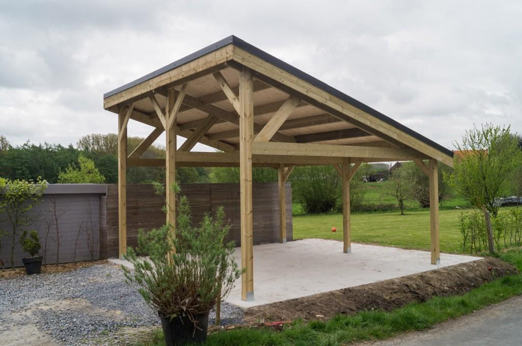 carports bois toit plat double pente pergolas  decochalet