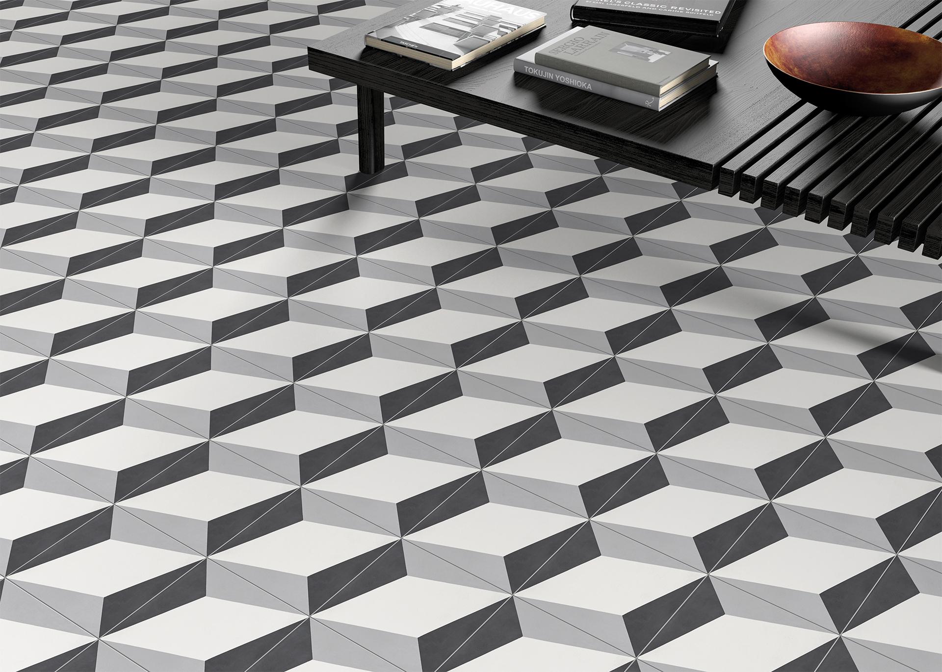 Carreau De Ciment Cimi69, Forme Géométrique 20X20 | Bigmat dedans Optique De Carreaux De Ciment