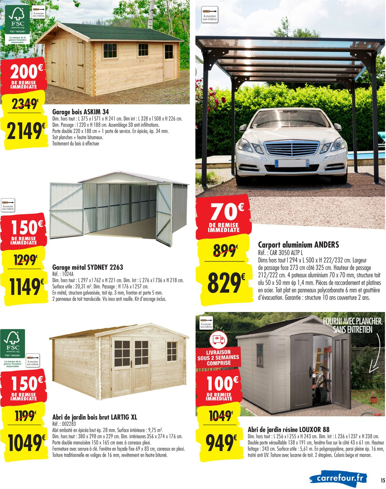 Carrefour Catalogue Actuel 24.09 - 14.10.2019 [15 serapportantà Abri De Jardin Carrefour