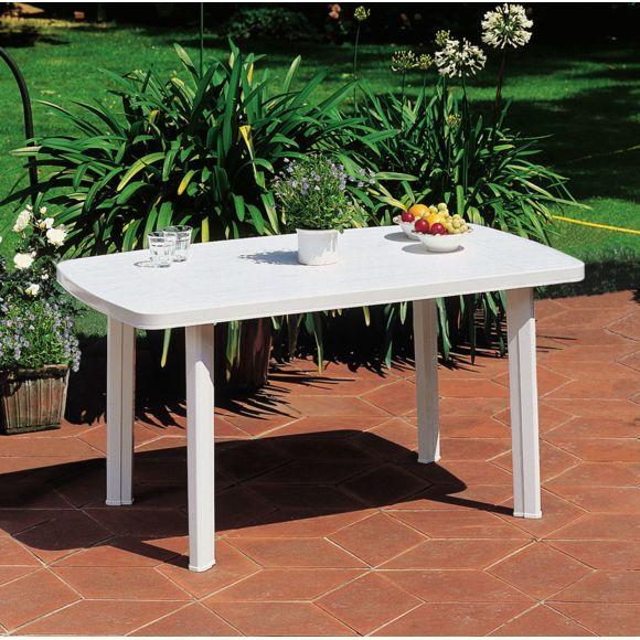 Carrefour - Faro - Table De Jardin Rectangulaire - Blanc encequiconcerne Table De Jardin Pliante Carrefour