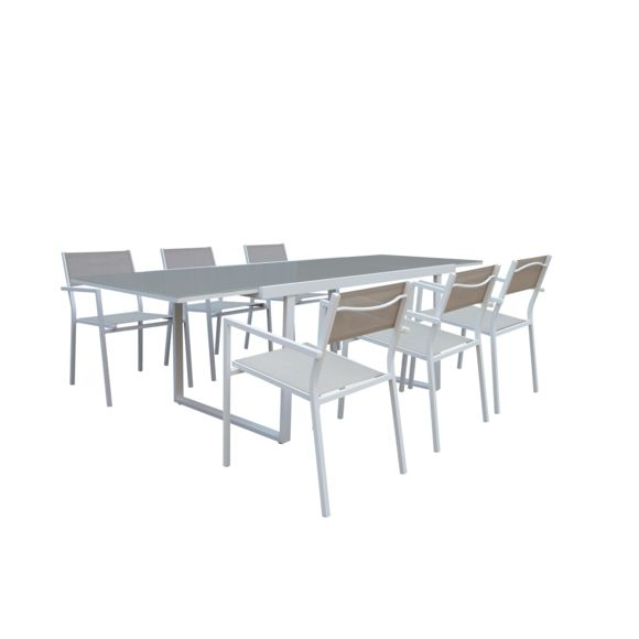 Carrefour - Salon De Jardin Sofia - Table Avec Allonge Et intérieur Table De Jardin Pliante Carrefour