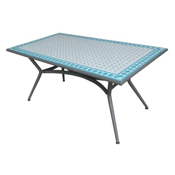 Carrefour - Table De Jardin Mosaïque Rectangulaire dedans Table De Jardin Pliante Carrefour