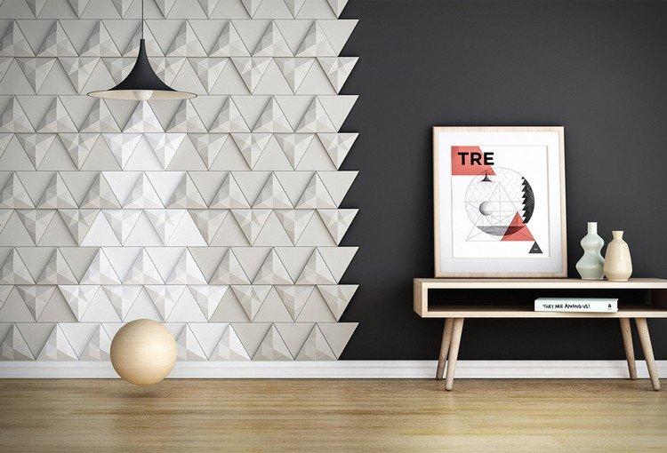 Carrelage 3D Modulable Pour Donner Du Relief Aux Murs tout Revetement Mural 3D Castorama