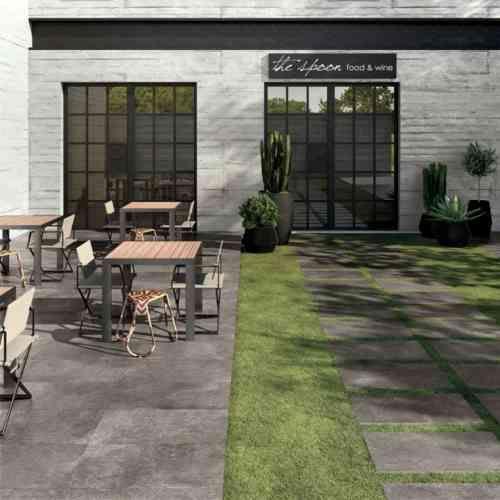Carrelage Extérieur Pour Sol De Jardin En Gris Foncé Unika avec Abri De Jardin Solde