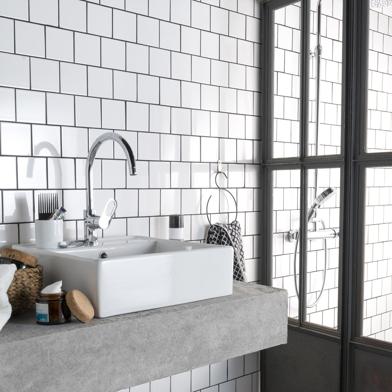 Carrelage Noir Et Blanc Prix - Atwebster.fr - Maison Et destiné Carrelage Metro Noir Mat