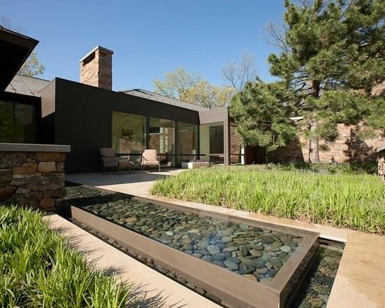 Cascade De Jardin, Fontaine Et Bassin- 80 Oasis Modernes tout Jardin Moderne