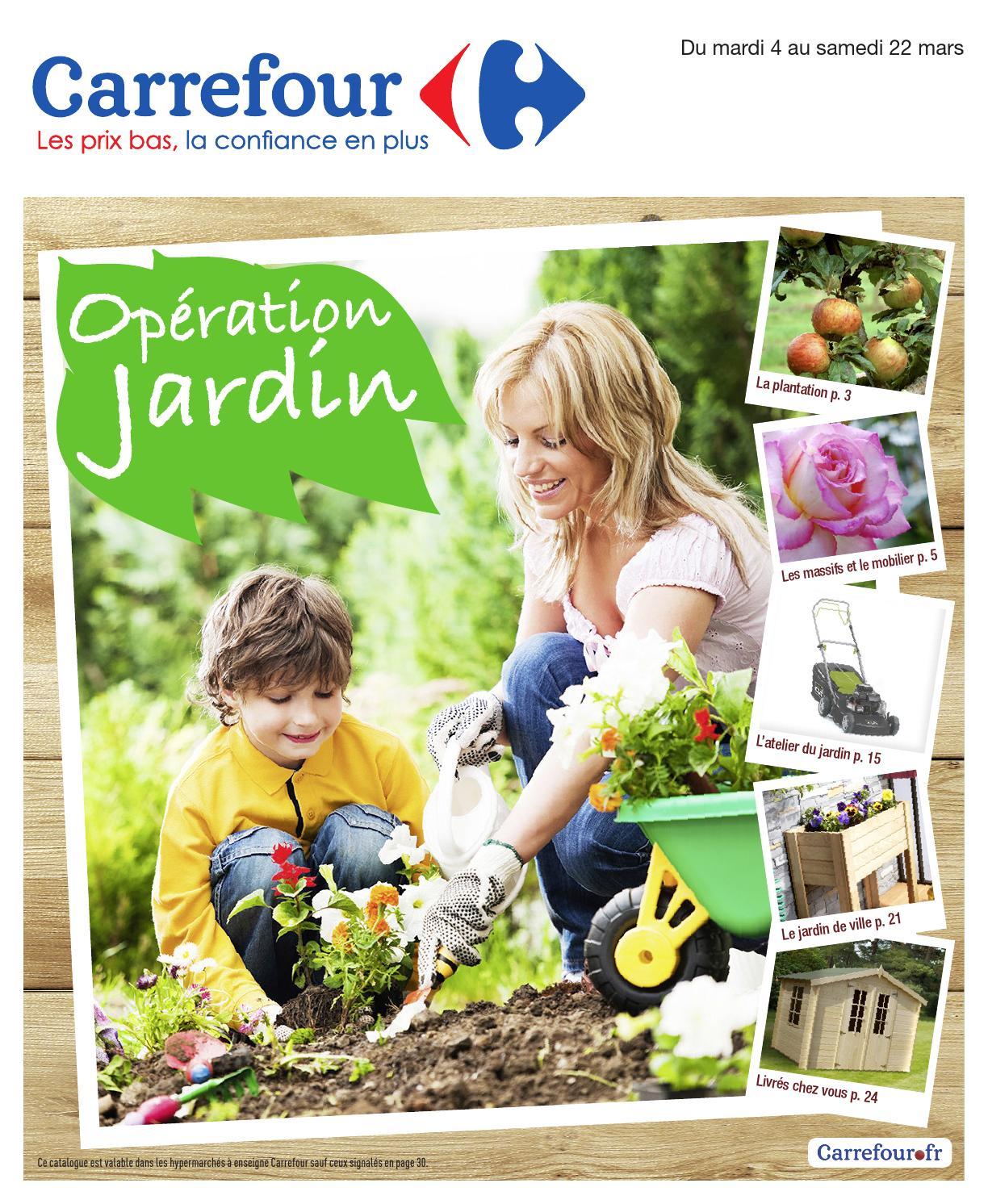 Catalogue Carrefour - 4-22.03.2014Joe Monroe - Issuu intérieur Abri De Jardin Carrefour