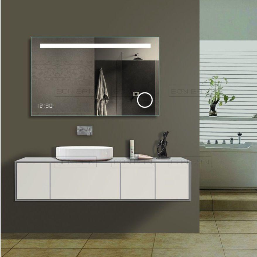 Ce Miroir Led Est Parfait. Horloge Intégré, Eclairage intérieur Miroir Salle De Bain