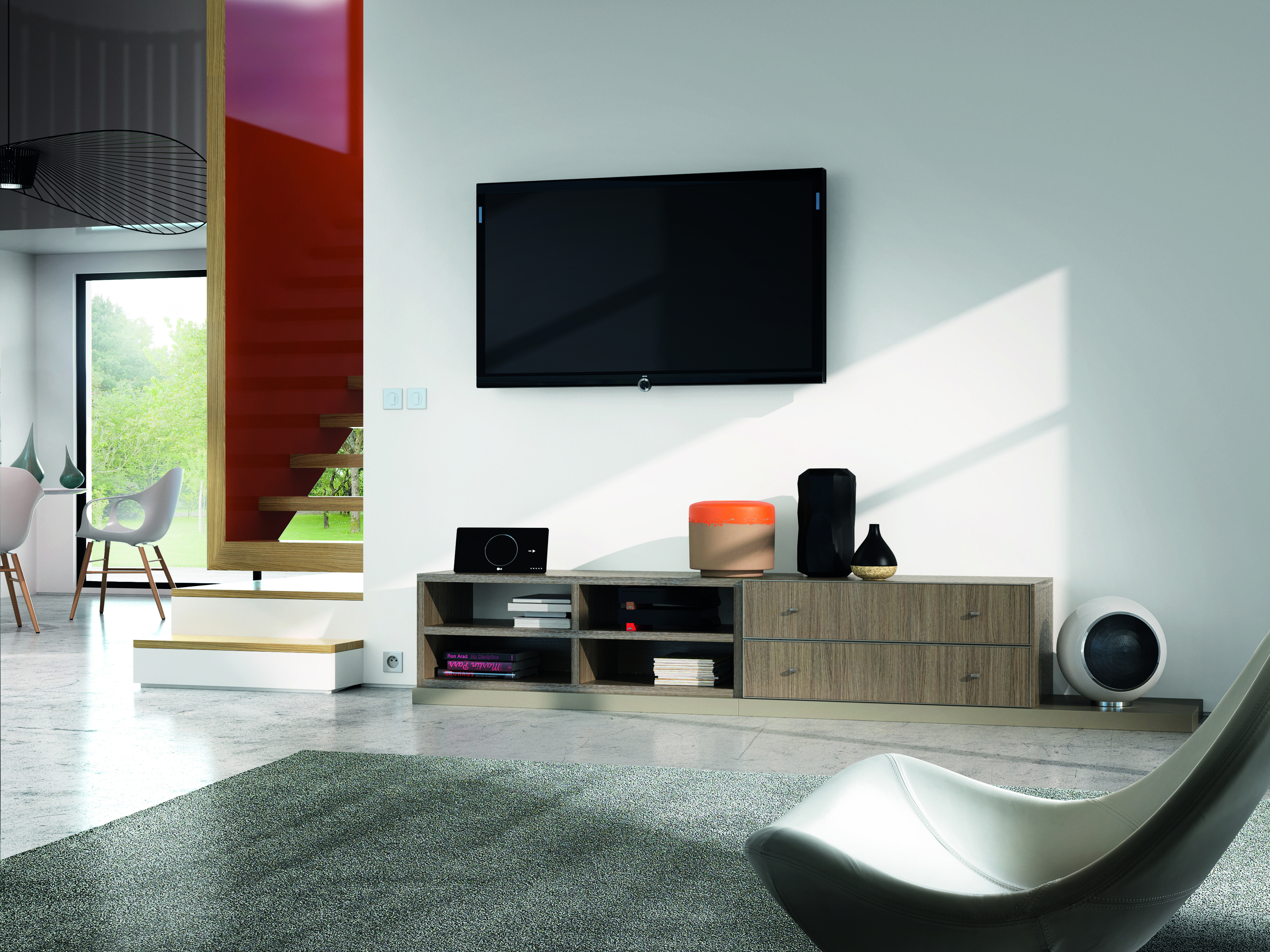 Célio - Meuble Tv Composium | Meubles Et Décoration | Flat intérieur Meuble Monnier