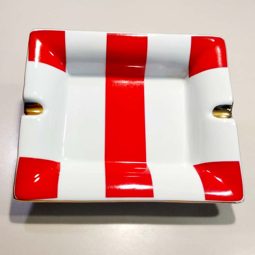Cendrier Céramique Rouge Et Blanc Potiron - Casa Paloma destiné Potiron Meubles