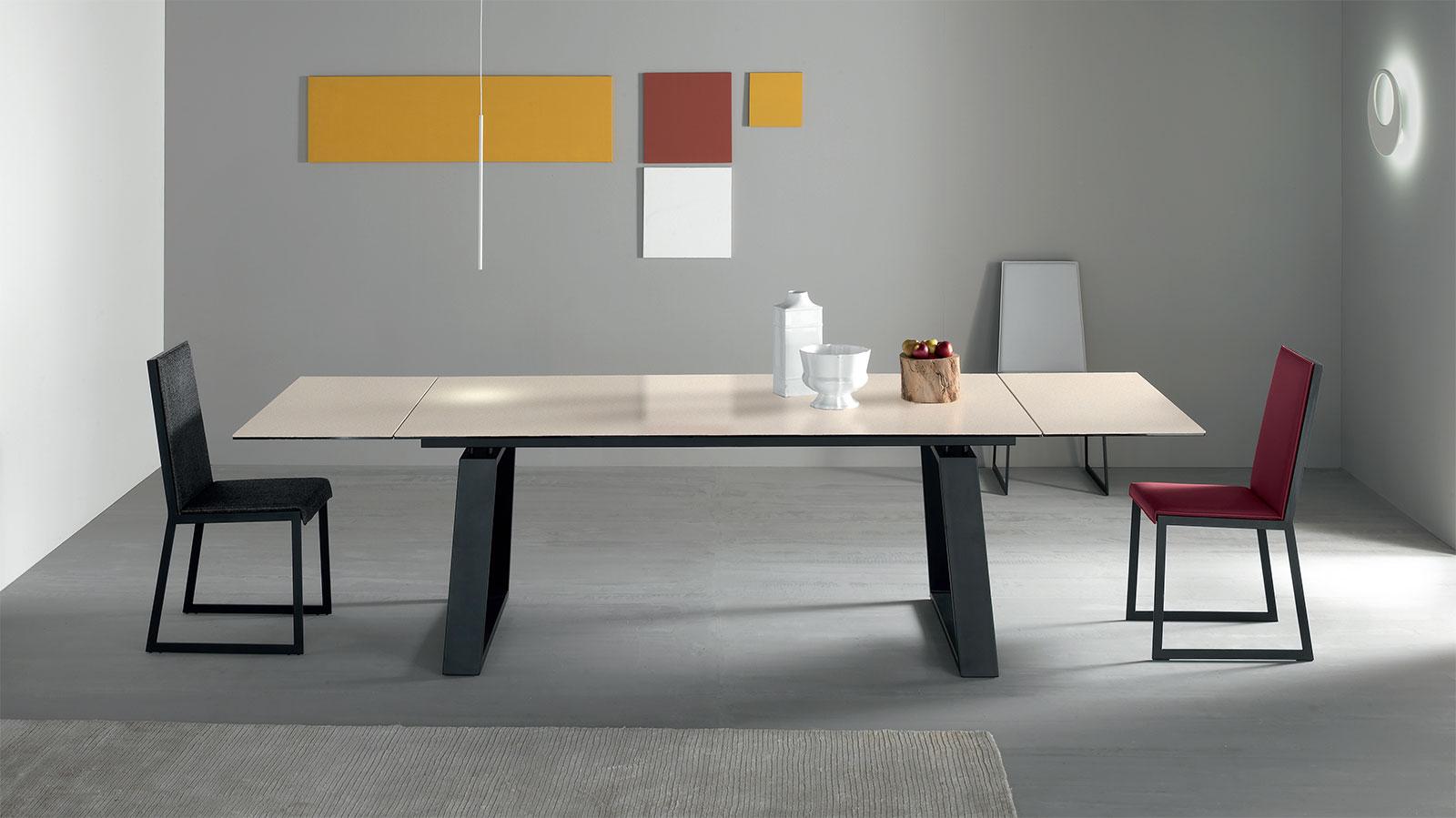 Ceram Table À Rallonge En Céramique Oxide Blanc. à Table Salle A Manger Plateau Ceramique