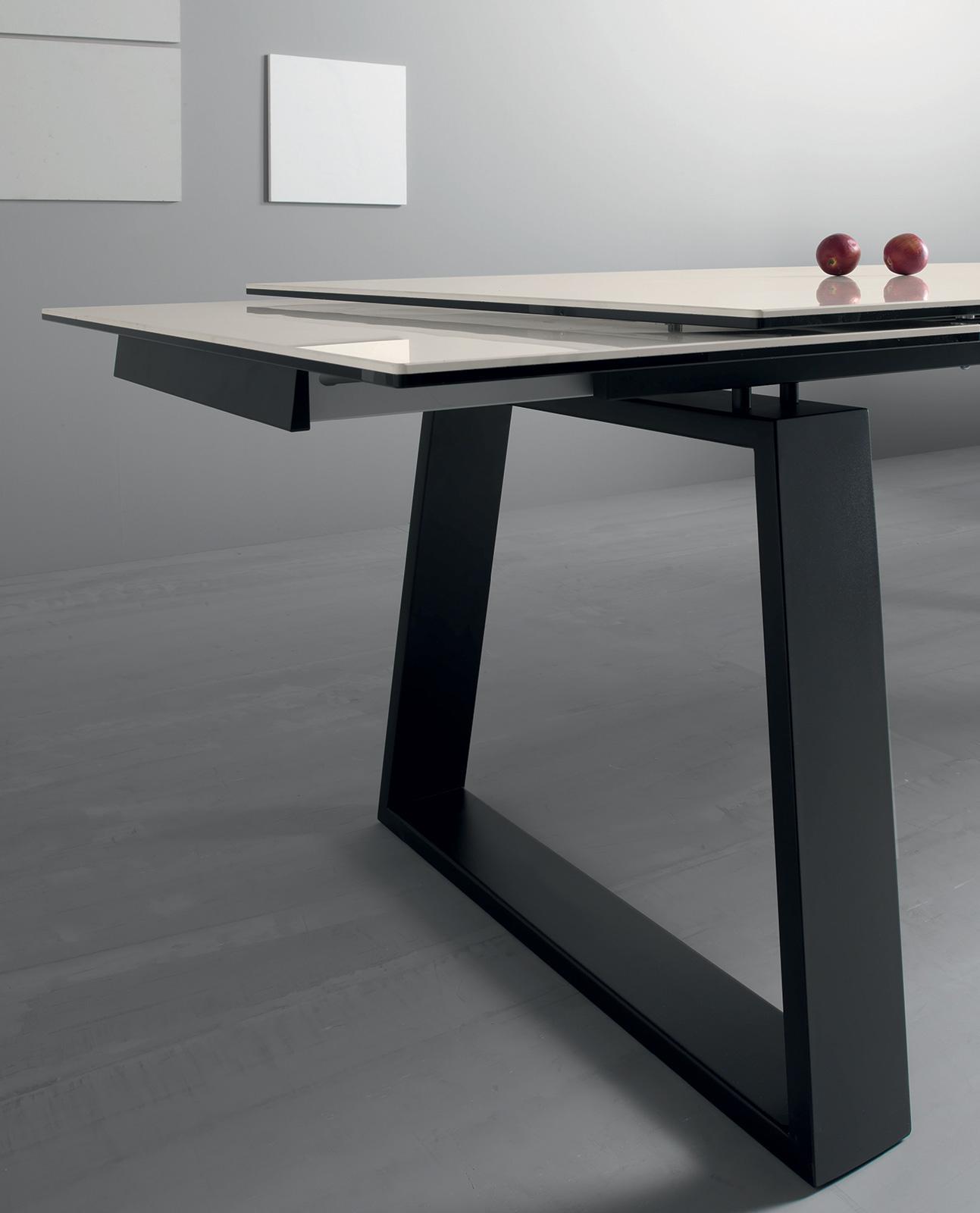 Ceram Table À Rallonges Avec Plan En Céramique destiné Table Salle A Manger Plateau Ceramique
