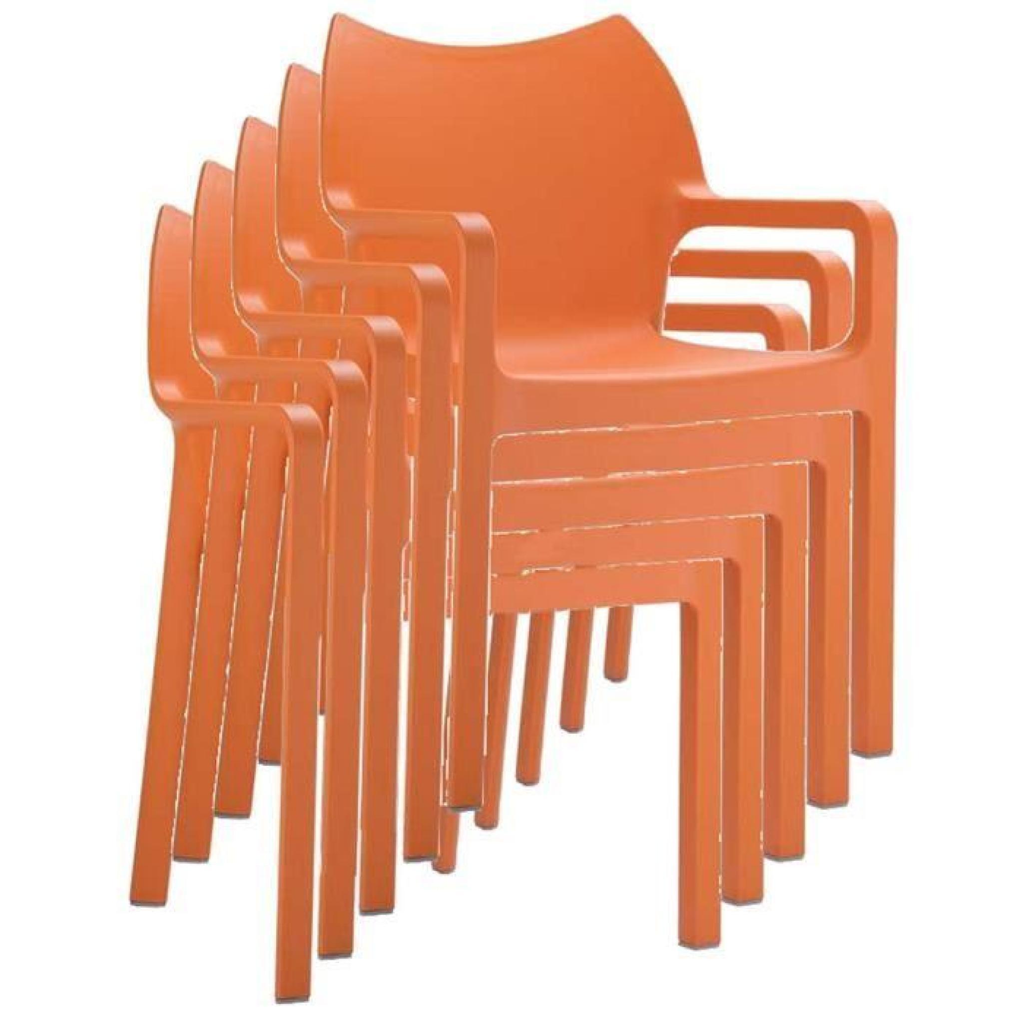 Chaise De Jardin Empilable En Plastique, Orange - Achat serapportantà Chaise De Jardin Pliante Pas Cher