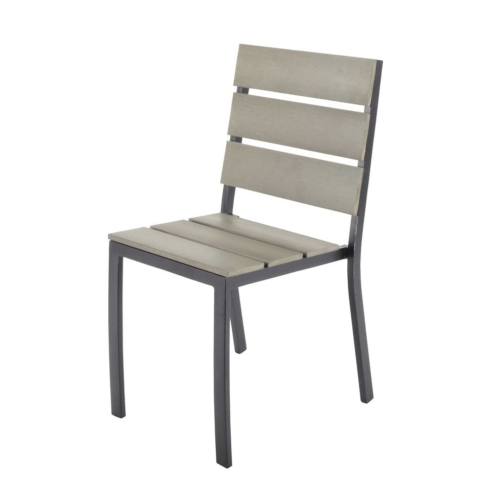 Chaise De Jardin En Aluminium Et Composite Escale serapportantà Chaise De Jardin Hesperide