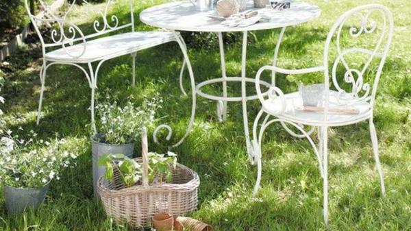 Chaise De Jardin Fer Forge Blanc pour Décoration Jardin Fer Forgé