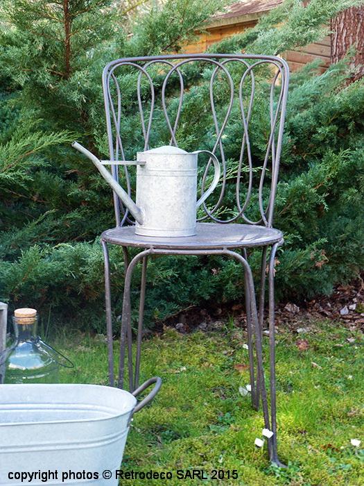 Chaise De Jardin Métal Dossier En Huit, Déco Brocante destiné Deco Metal Jardin
