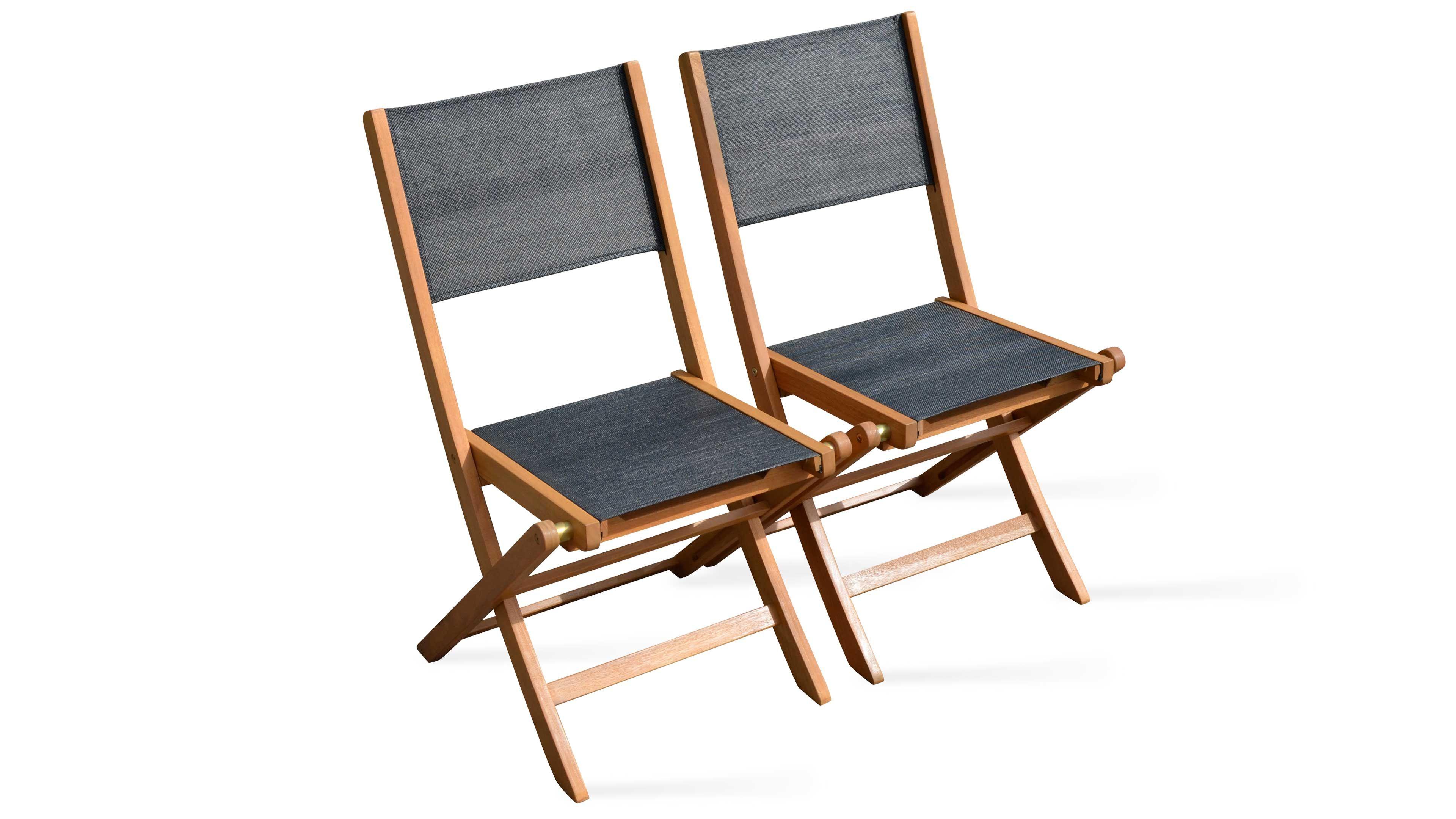 Chaise De Jardin Pliante En Bois | Oviala intérieur Chaise Suspendue Jardin
