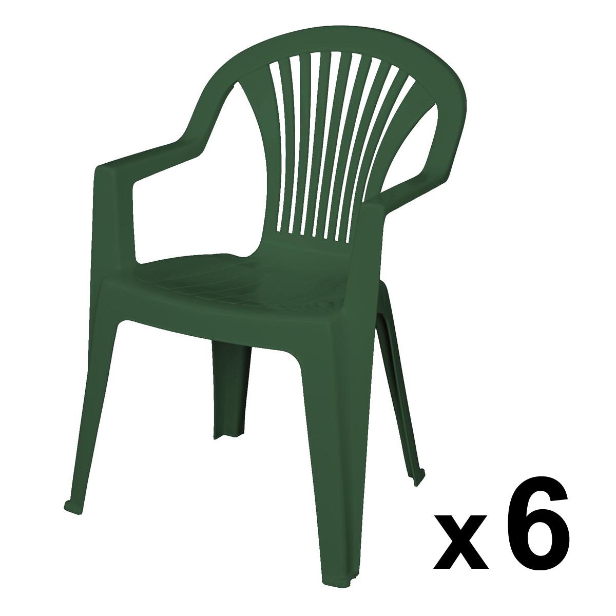 Chaise De Salon De Jardin En Plastique Vert - Mailleraye tout Salon De Jardin Pas Cher En Plastique