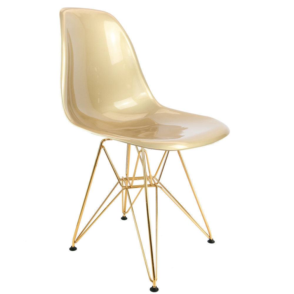 Chaise Design Dorée Dsr Eames Copie concernant Chaises Eames Copie