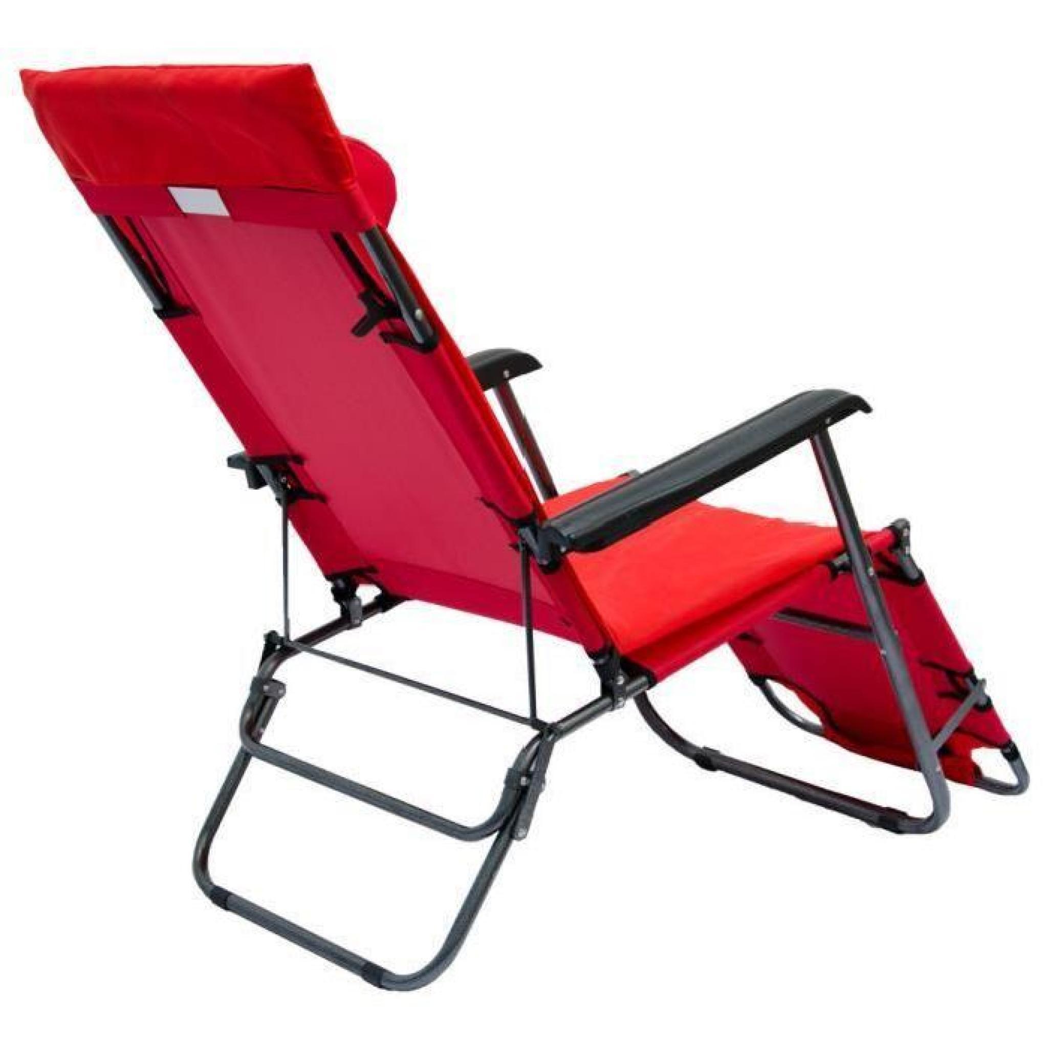 Chaise Longue Pliante 178X60Cm Dossier Inclinable avec Chaise De Jardin Pliante Pas Cher