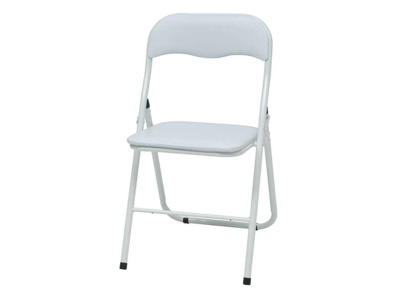 Chaise Pliante Breva Coloris Blanc - Vente De Table Et tout Chaise De Jardin Pliante Pas Cher