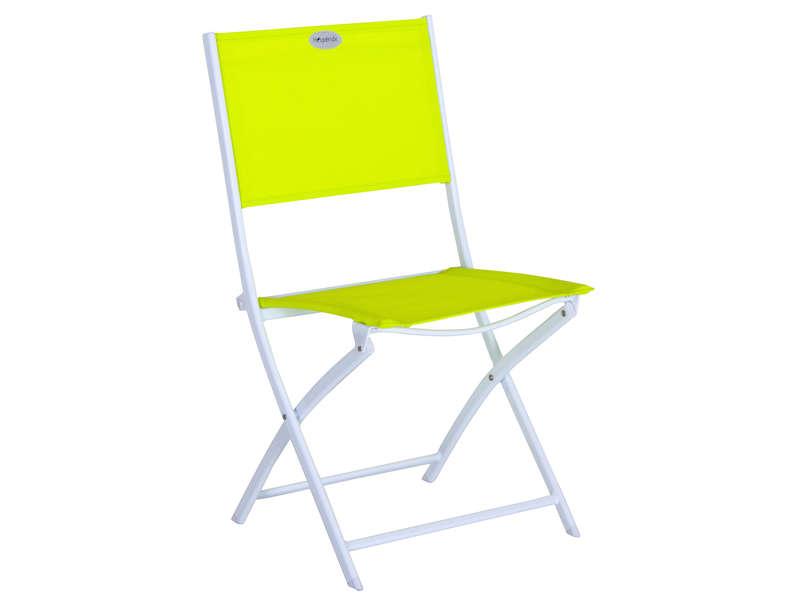Chaise Pliante De Jardin Tabarca Coloris Framboise Pas avec Chaise De Jardin Pliante Pas Cher