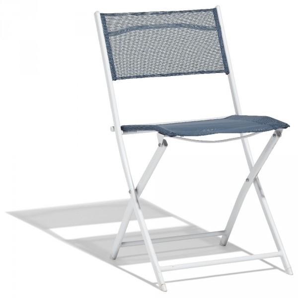 Chaise Pliante London Bleu Orage - Table / Chaise / Salon à Chaise Chilienne Gifi
