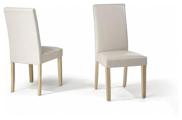 Chaise Salle A Manger Cuir Beige | Idées De Décoration à Salle À Manger Coussin De Chaise Chambre