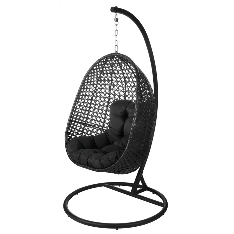 Chaise Suspendue Acier Et Rotin - Dido - Blanc De Chaise concernant Chaise Suspendue Jardin