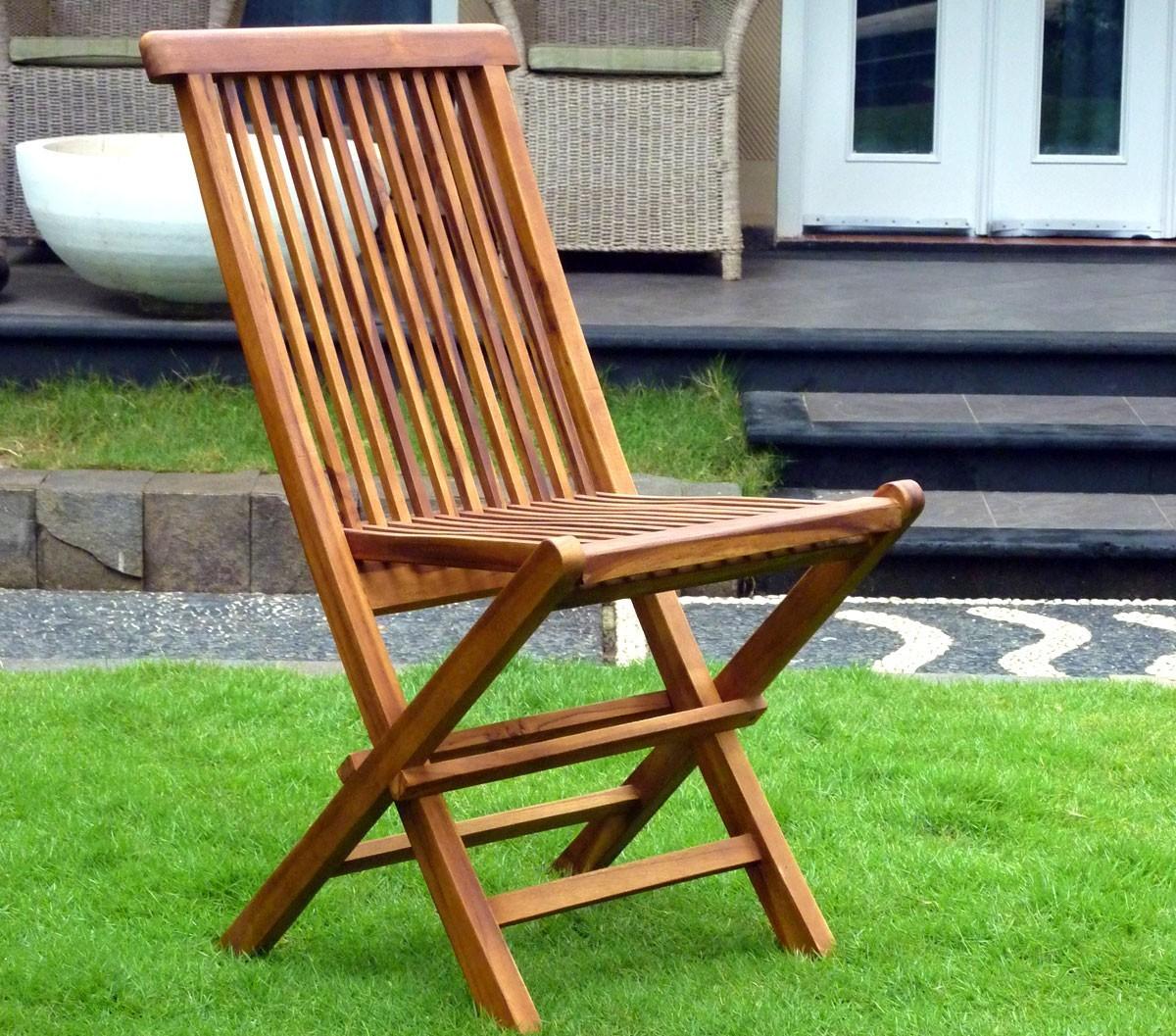 Chaises Pliante En Teck Huilé : Meuble De Jardin pour Chaise De Jardin Hesperide